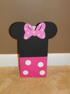 Minnie Mouse Goody Bags Minnie Mouse Treat by BeesDieCutDesigns, $14.00