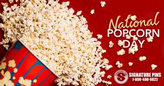 Today is National Popcorn Day! It is is annually observed on January 19th. This is a time-honored treat and can be enjoyed many different ways. You can have your popcorn, with a caramel flavor, buttered or just plain. You can mold it into a candied ball or toss it with nuts. You can also drizzle it with chocolate. Whatever you choose, just enjoy!  Send us a comment on your favorite way to eat your popcorn!  #SignaturePins #NationalPopcornDay #HowDoYouLikeYourPopcorn