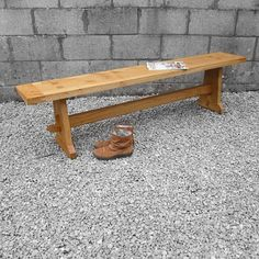 Traditional Farmhouse Aged Oak Wooden Benches  Kitchen Dining