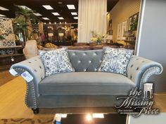 """Camel back tufted Sharon loveseat with flared, curving arms accented with nail heads.  The tufting is blinged out with acrylic diamonds.  Marilyn would have loved it.  The size is 74"""" long, 34 deep and 35"""" tall."""