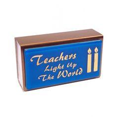 Teachers Light up the World Small Matchbox Cover