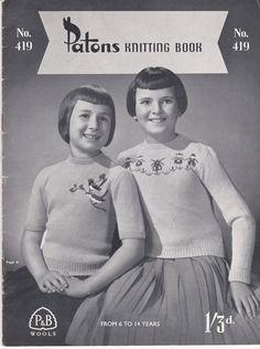 Paton's & Baldwins  Knitting Pattern No 419  by jennylouvintage