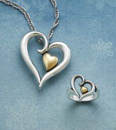 Joy of My Heart Ring & Pendant #jamesavery #jewelry
