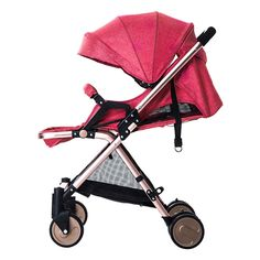 87.80$  Buy now - Luxury Baby Stroller Folding High Landscape Sit and Lie for Newborn Infant Four Wheels Baby Carriage Pram Bebek Arabasi 5Colors  #shopstyle
