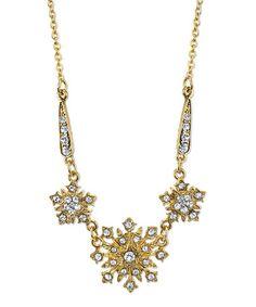 Love this Goldtone Downton Abbey Crystal Belle Epoch Starburst Necklace on #zulily! #zulilyfinds