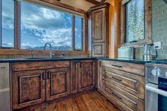 Ski Ridge Timber Frame Design – Streamline Design Kitchen Dining, Kitchen Cabinets, Wrap Around Deck, Open Concept Kitchen, Home Builders, Great Rooms, Skiing, Loft, Patio