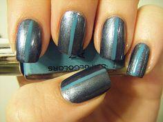 No Nekkid Nails - Rimmel London Hard Metal with stripe