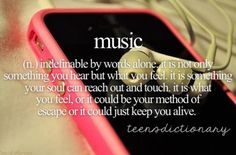 Music is...... many things to many people! However, one things is for certain. The world couldn't do without it!