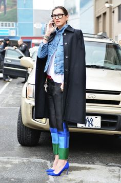 Jenna Lyons is so incredibly Chic, she is one of my personal Fashion inspirations. I love how she mixes street style with luxurious high end pieces. I love her affinity for shocking bright color and I think she always looks effortlessly put together..laid back and not fussy yet incredibly chic all at the same time...
