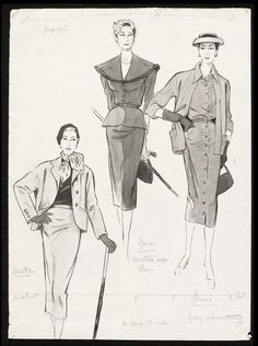 Fashion drawing | Fromenti, Marcel | V&A Search the Collections