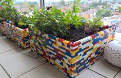 recycle lego pot plante