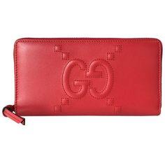 2c798a4e55f3 Gucci Red Apollo Dadini Embossed GG Leather Wallet 453393 #stellasaksa