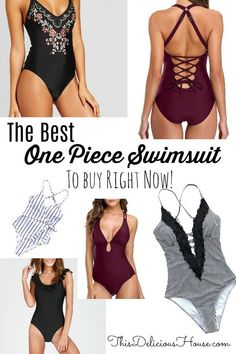Don't miss this list of the best, most flattering, and most affordable one piece swimsuit that you need to buy right now! One Piece Swimsuit Flattering, One Piece Swimsuit Slimming, Cute One Piece Swimsuits, Flattering Swimsuits, Bathing Suits One Piece, Summer Outfits For Teens, Mom Outfits, Clothes For Women, Arm