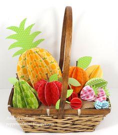 3D Paper Fruit Basket - Scrapbook.com