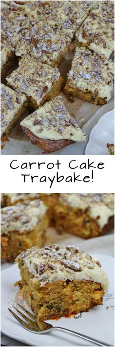 Carrot Cake Traybake! ❤️ A delicious Carrot Cake Traybake with Cream Cheese Frosting!
