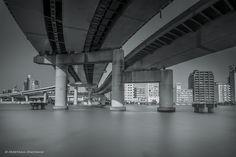 Ryougoku JCT with Sumida River in Tokyo by Hidetaka Onoyama