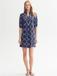 Circle Print Dress | Banana Republic (I think this would be adorable belted)