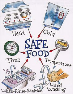 Food Safety Poster | Cleanses, Food handling and Eat healthy