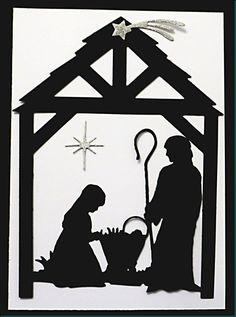 Impression Obsession Christmas Nativity Scene Die by MelAriandme