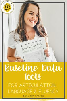 Grab these baseline data tools for articulation, language, and fluency to make taking data at the beginning of the year so much easier.  Speech therapy data collection is more streamlined when you have one tool that targets most of your caseload.