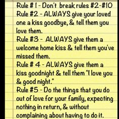 """""""Ten Rules of The House"""""""