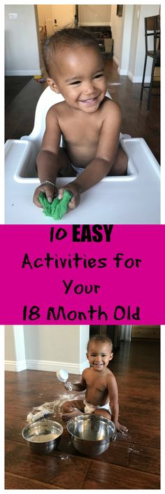 10 EASY activities for your 18 month old! #ad #ThinkOutsideTheWipe