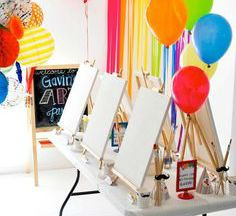 Colorful Art Themed Party
