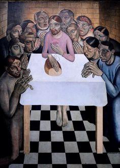 Gustave van de Woestyne.  1881-1947. La dernière Cène 1927. The Last Supper. Bruges. Groeninge Museum.