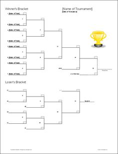 Download The Double Elimination Bracket Template From Vertex42 Backyard Party Games Yard