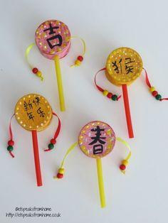 Chinese New Year drum craft for kids | Chinese new year ...