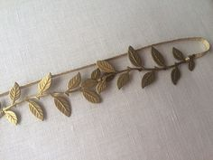 Laurel Leaf Garter  Non traditional garter for the bohemian bride  - Leaf vine design - Imported Italian thin gold elastic - Perfect garter to be