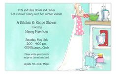 Bridal shower invitations like this Domestic Delight Kitchen Shower Invitation from Picture Perfect are a great way to celebrate the bride to be. Shower ideas can sometimes be hard to decide on. We have many bridal shower invites at Polka Dot Design. Kitchen Shower, Cute Kitchen, Best Friend Wedding, Next Wedding, Wedding Ideas, Bridal Shower Invitations, Custom Invitations, Invites, Home Insurance Quotes