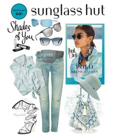 """""""Shades of You: Sunglass Hut Contest Entry"""" by ragnh-mjos ❤ liked on Polyvore featuring Emporio Armani, Polo Ralph Lauren, Revo, Abercrombie & Fitch, Stuart Weitzman, Kate Spade, 6 Shore Road, Outdoor Research and CO"""