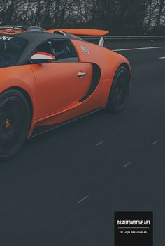 Stunning orange and black Bugatti Veyron