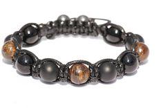 Bracelet  homme pierre  Agate/Bronzite Agate Stone, Stone Beads, Crane, Black Agate, Bracelet Making, Matte Black, Solid Black, Beaded Bracelets, Gems