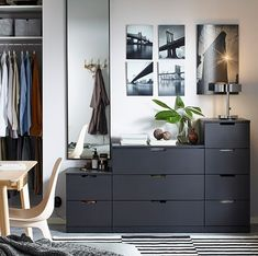 New Bedroom Wardrobe Ikea Dressers Ideas Chest Of Drawers Decor, Black Chest Of Drawers, Bedroom Drawers, Bedroom Sets, Home Decor Bedroom, Dresser Drawers, Bedroom Storage, Design Bedroom, Black Bedroom Furniture