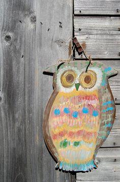 Hanging Wooden Owl!