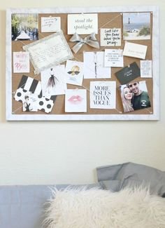 Pleats and Threads: DIY Marble Lined Inspiration Board