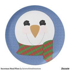 Snowman Head Plate