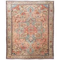 Serapi Carpet   From a unique collection of antique and modern persian rugs at https://www.1stdibs.com/furniture/rugs-carpets/persian-rugs/