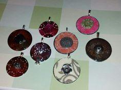 Handmade washer pendants jewerly