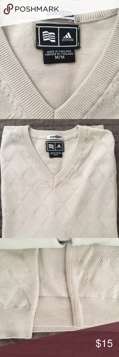 Adidas Climalite Sweater New without tags New without tags  Highly desirable Cream color adidas Sweaters Crewneck