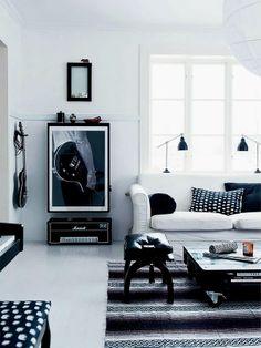 Living preto e branco