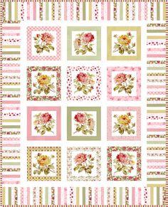 Inspiration for a mock antique quilt