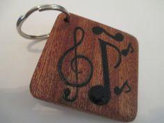 Make Memento Music Keyring by MakeMemento on Etsy, £5.99