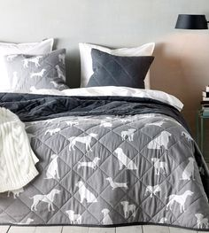 Captivating 16 Crazy Cute Comforters For Dog Lovers. Dog DecorationsDog Silhouette Bedding ...