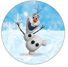 Latinhas e Toppers Olaf Frozen