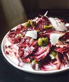 Fall Salad Recipe: Radicchio Salad with Green Olives & Parmesan — Recipes from The Kitchn