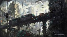 High technology city selone 03 by phoenix-feng.deviantart.com on @deviantART