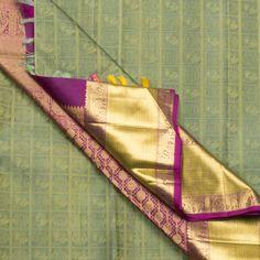 Kanakavalli Handwoven Kanjivaram Silk Sari 1000364 - Saris / Jacquard Kanjivarams - Parisera